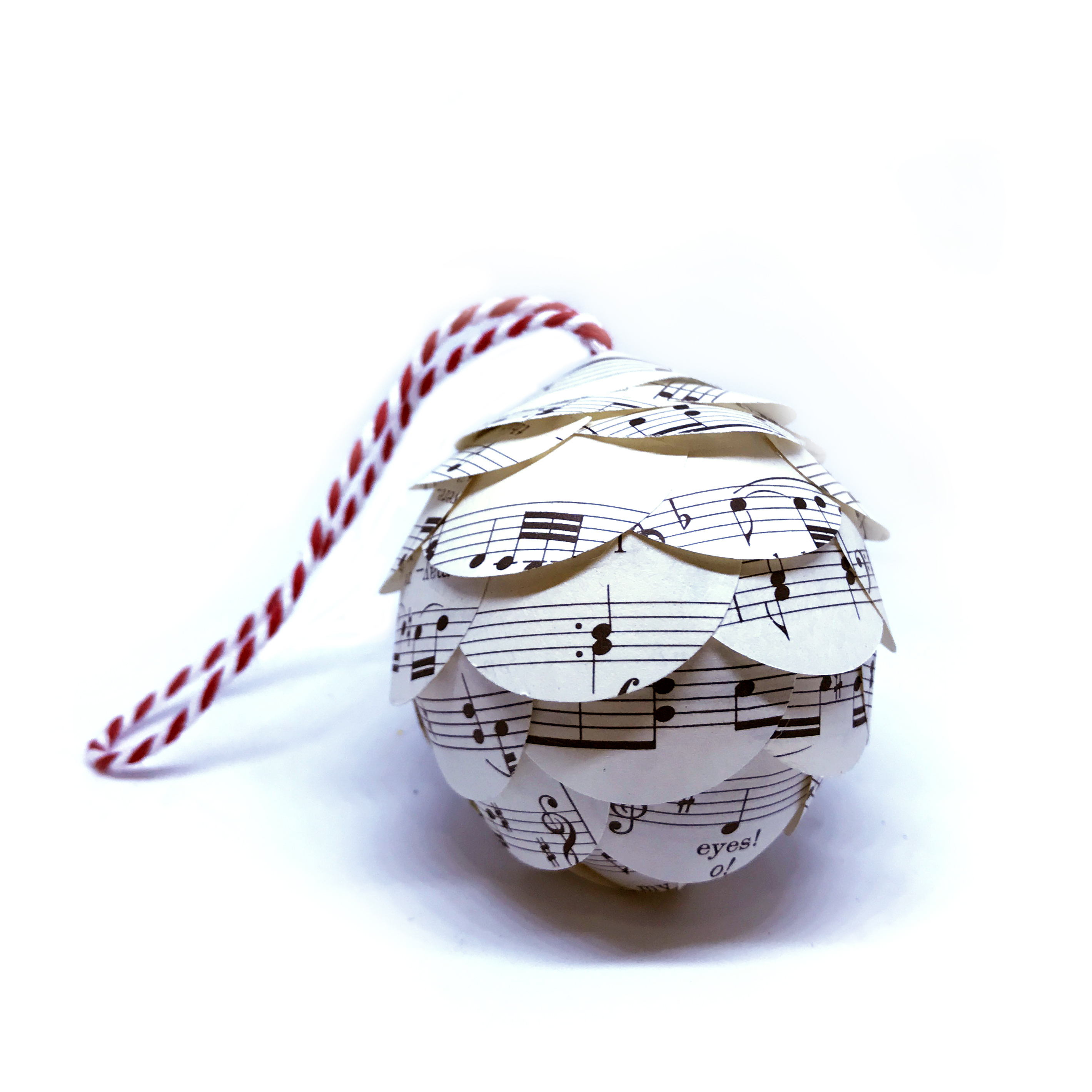 Music Christmas Ornaments, Up-Cycled Sheet Music by Joshua ...