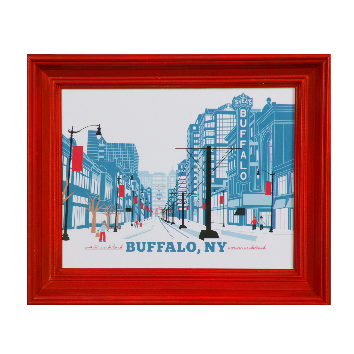 Buffalo ny art print featuring the theatre district on for Craft stores buffalo ny