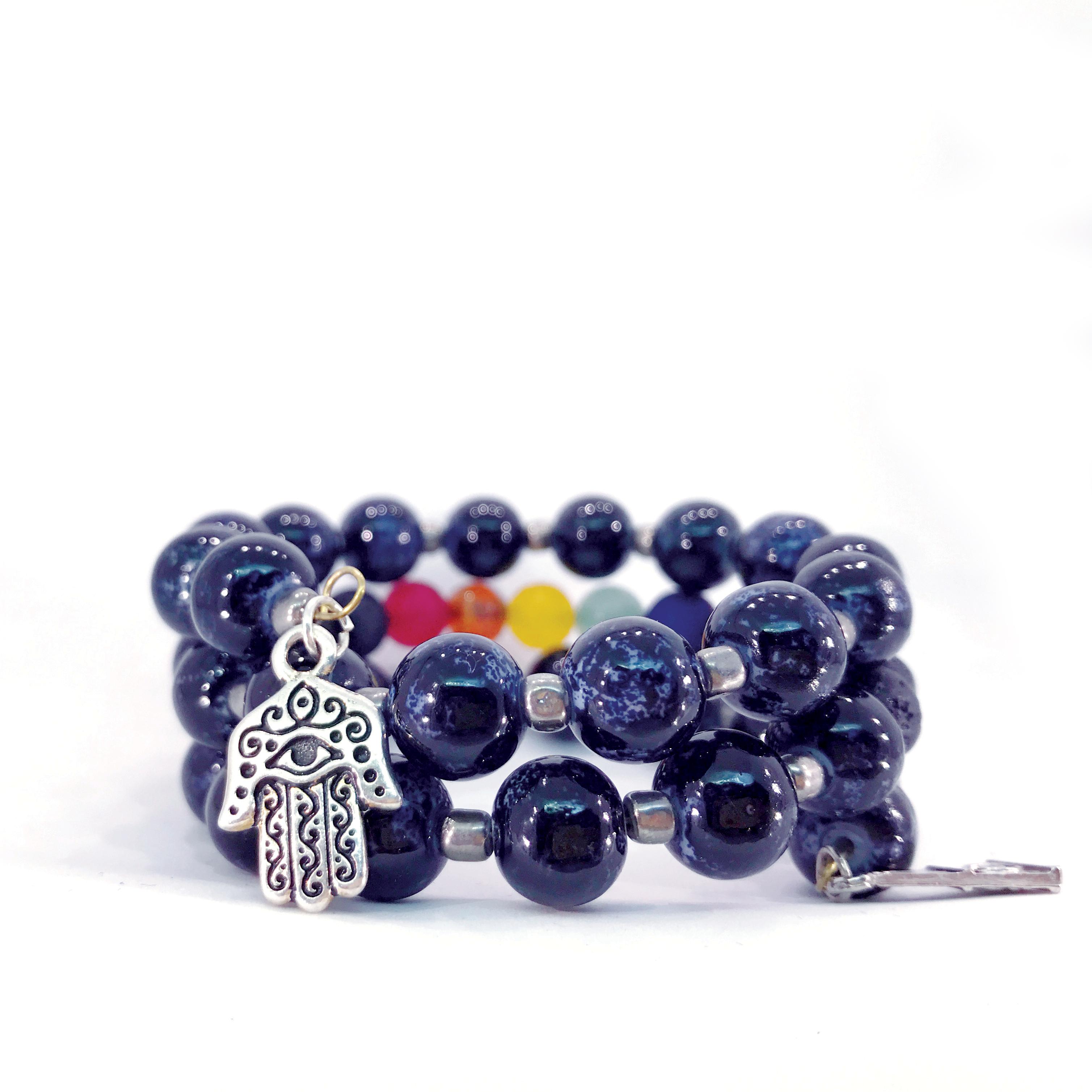 handmade chakra wrap bracelet