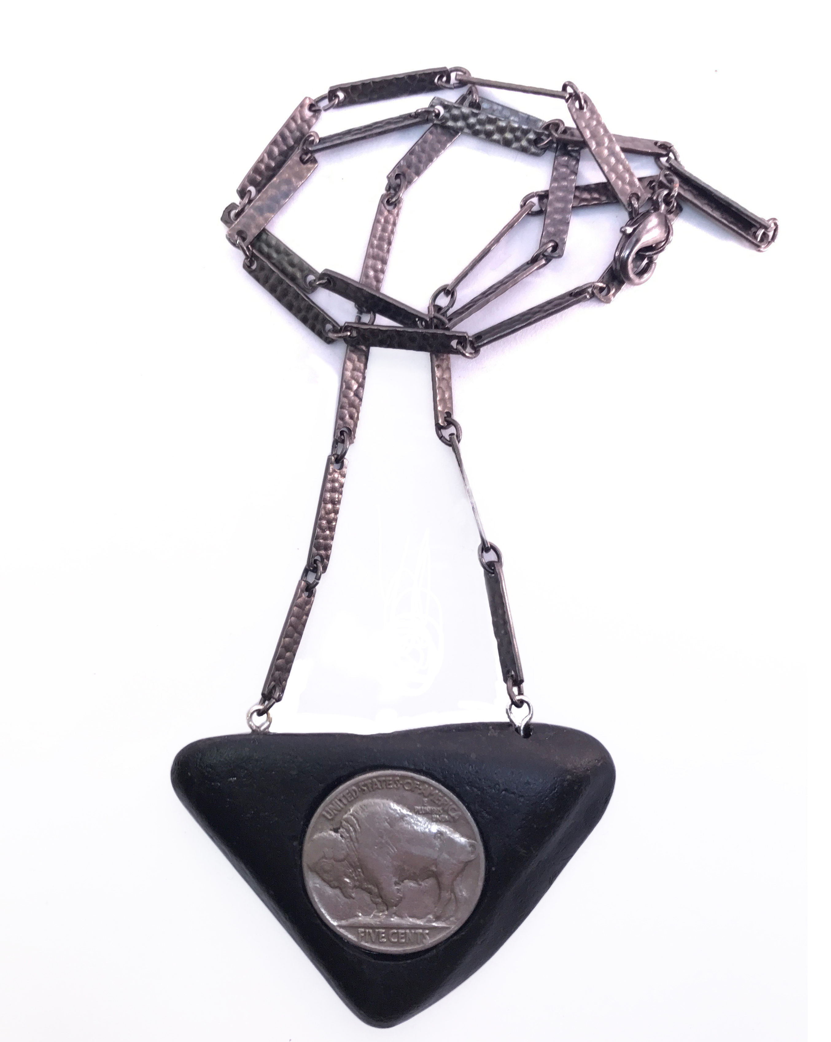 handmade buffalo nickel necklace