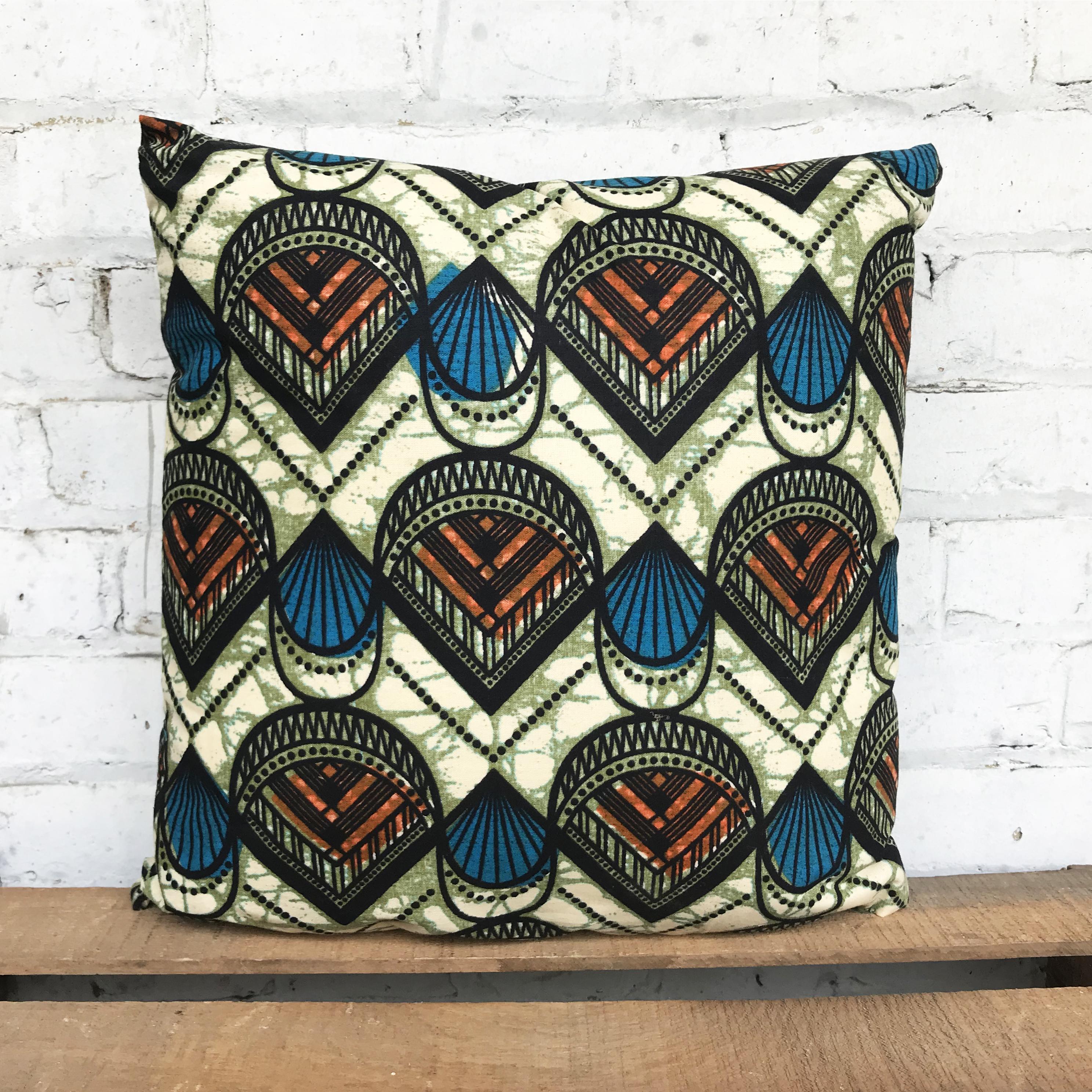 Dutch Wax pillow made in buffalo