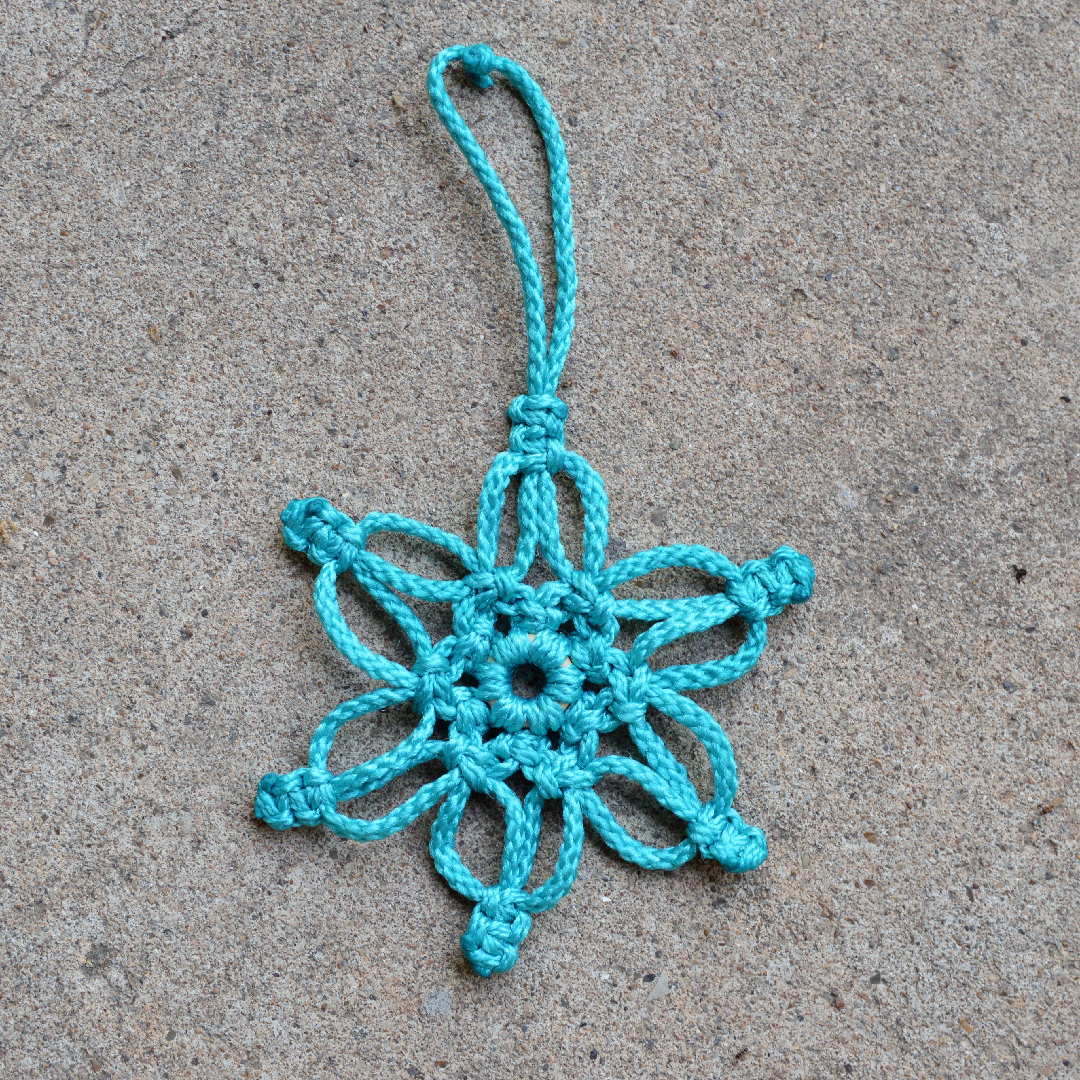 macrame buffalo snowflake ornament gift