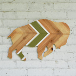 upcycled buffalo wall art gift