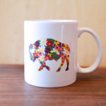 flower buffalo mug made in buffalo gift