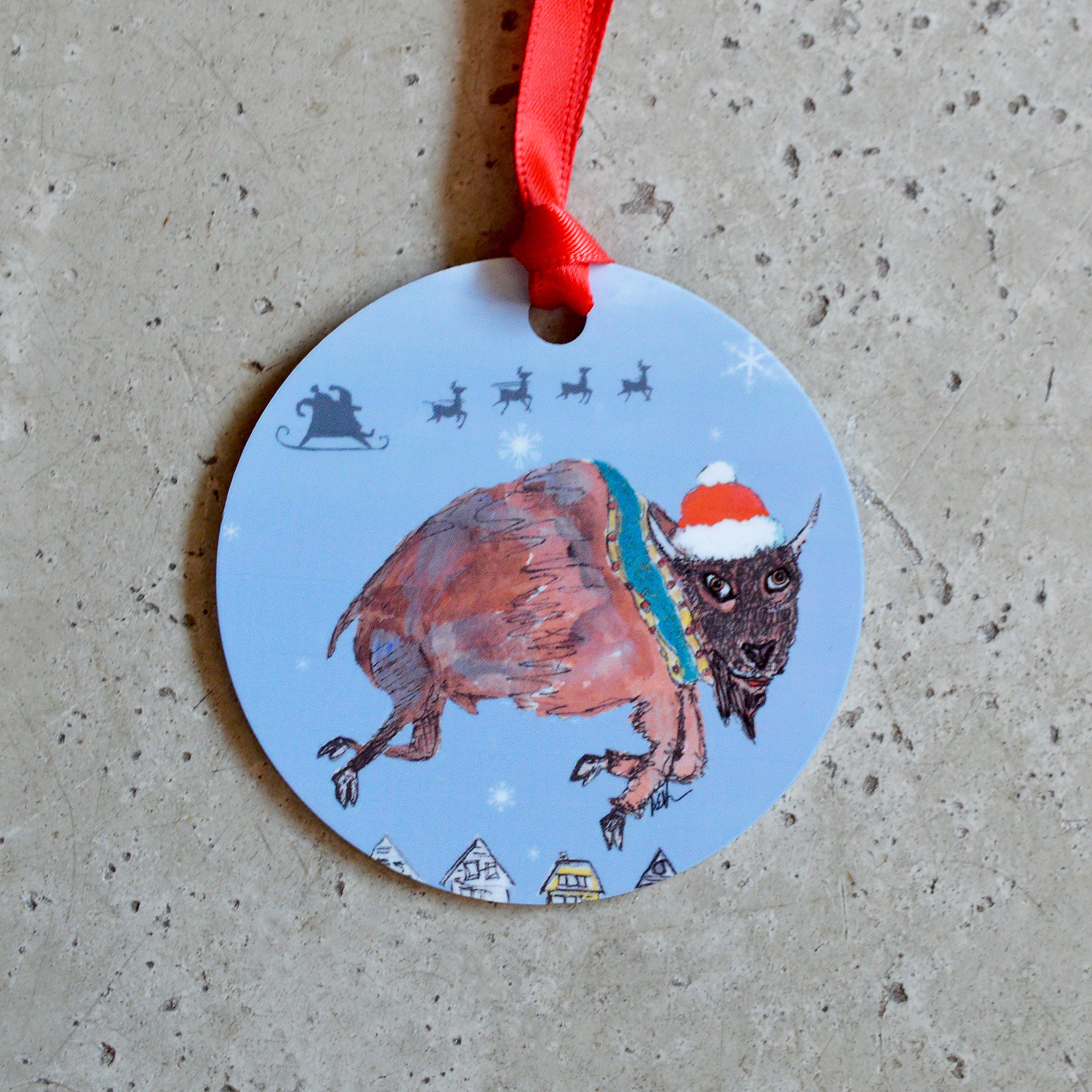 made in buffalo buffalo ny gift christmas ornament