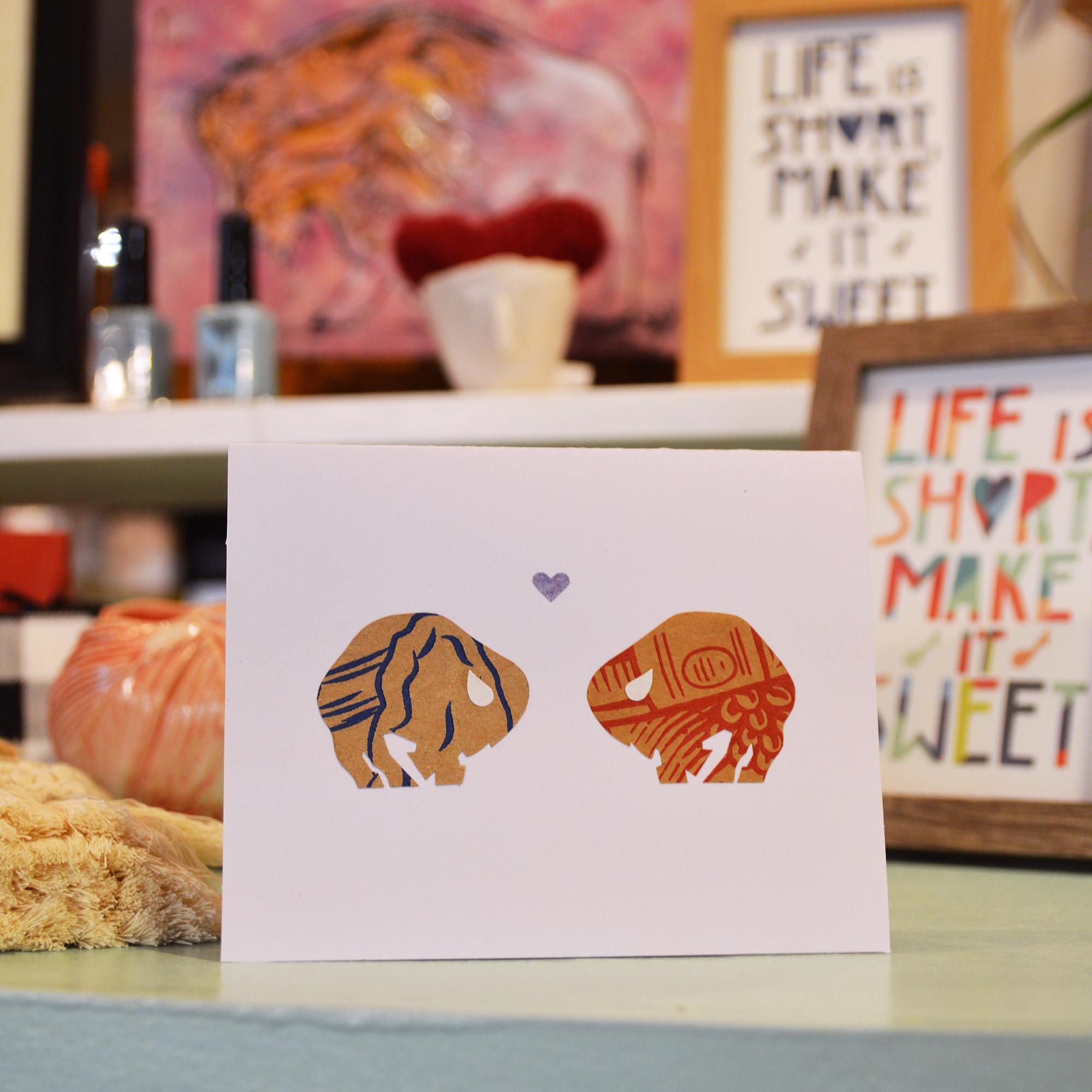 buffalo love greeting card buffalo ny gift shop