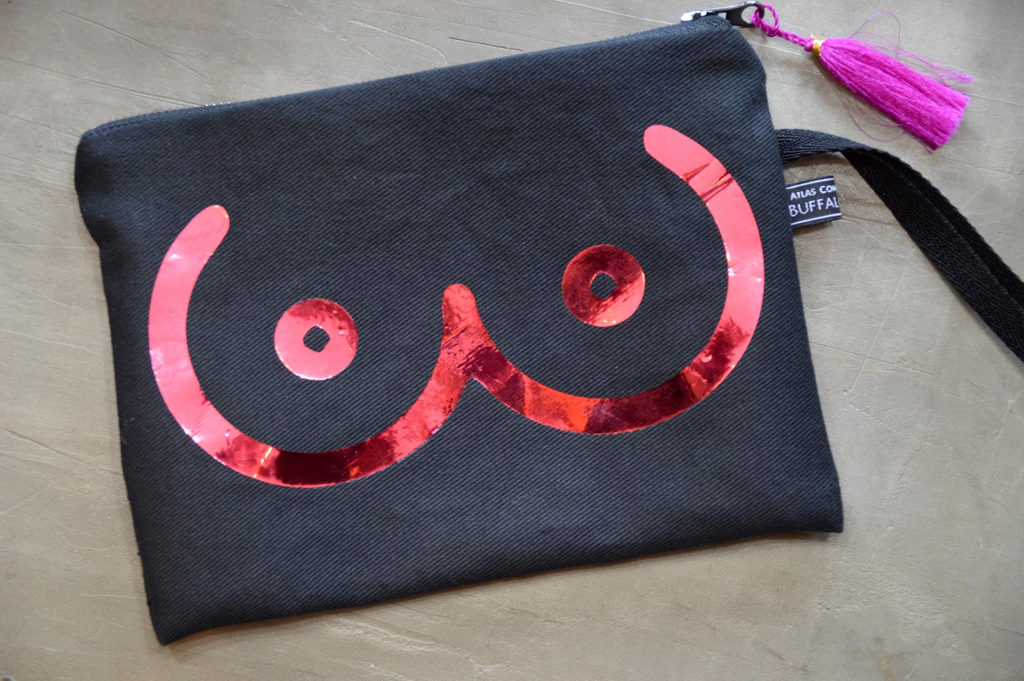 boobie clutch bag made in buffalo ny gift shop