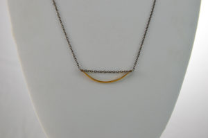 sterling silver and gold necklace made in buffalo ny gift shop