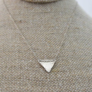 sterling silver triangle necklace made in buffalo ny gift shop
