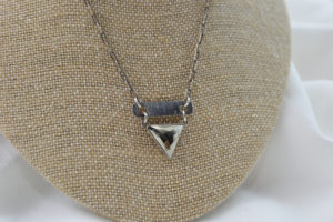 sterling silver pyrite necklace made in buffalo gift shop