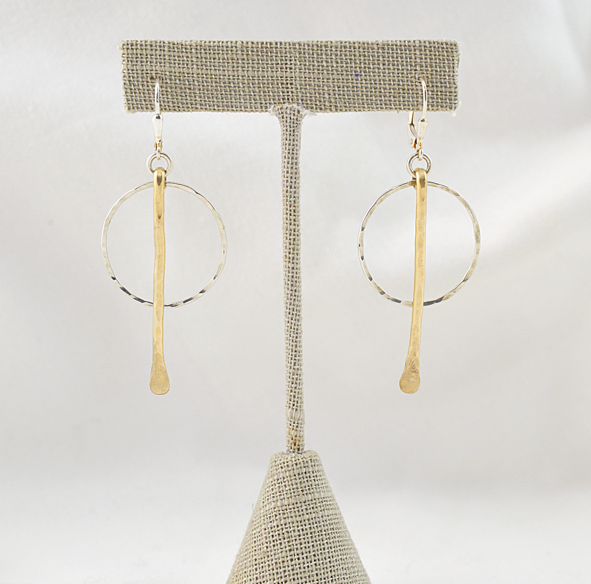 sterling silver and gold earrings made in buffalo ny gift shop