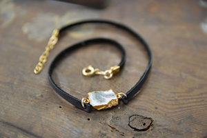 solar quartz leather bracelet choker made in buffalo ny gift shop