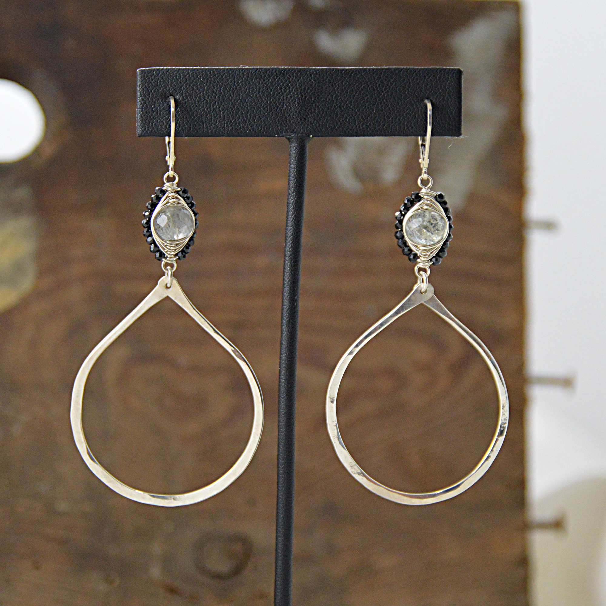 aquamarine sterling silver earrings made in buffalo ny gift shop