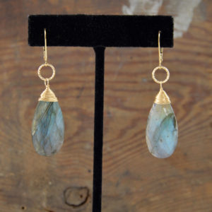 labradorite gold earrings made in buffalo ny gift shop