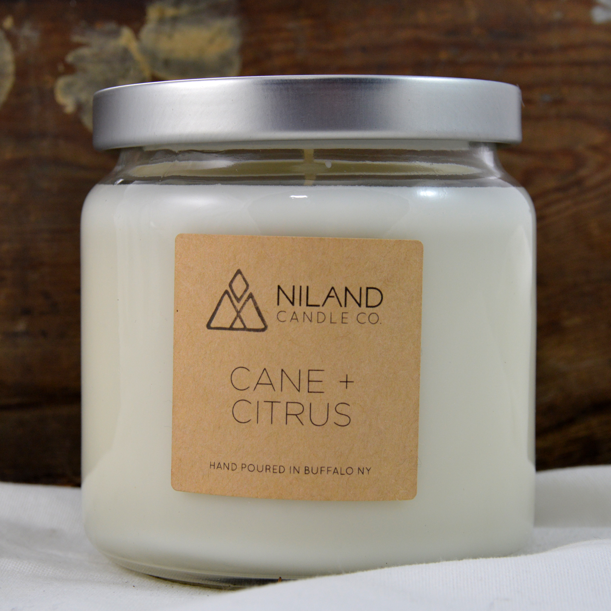 cane citrus soy candle made in buffalo ny gift shop
