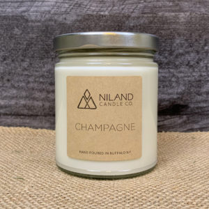 champagne soy candle made in buffalo ny gift shop