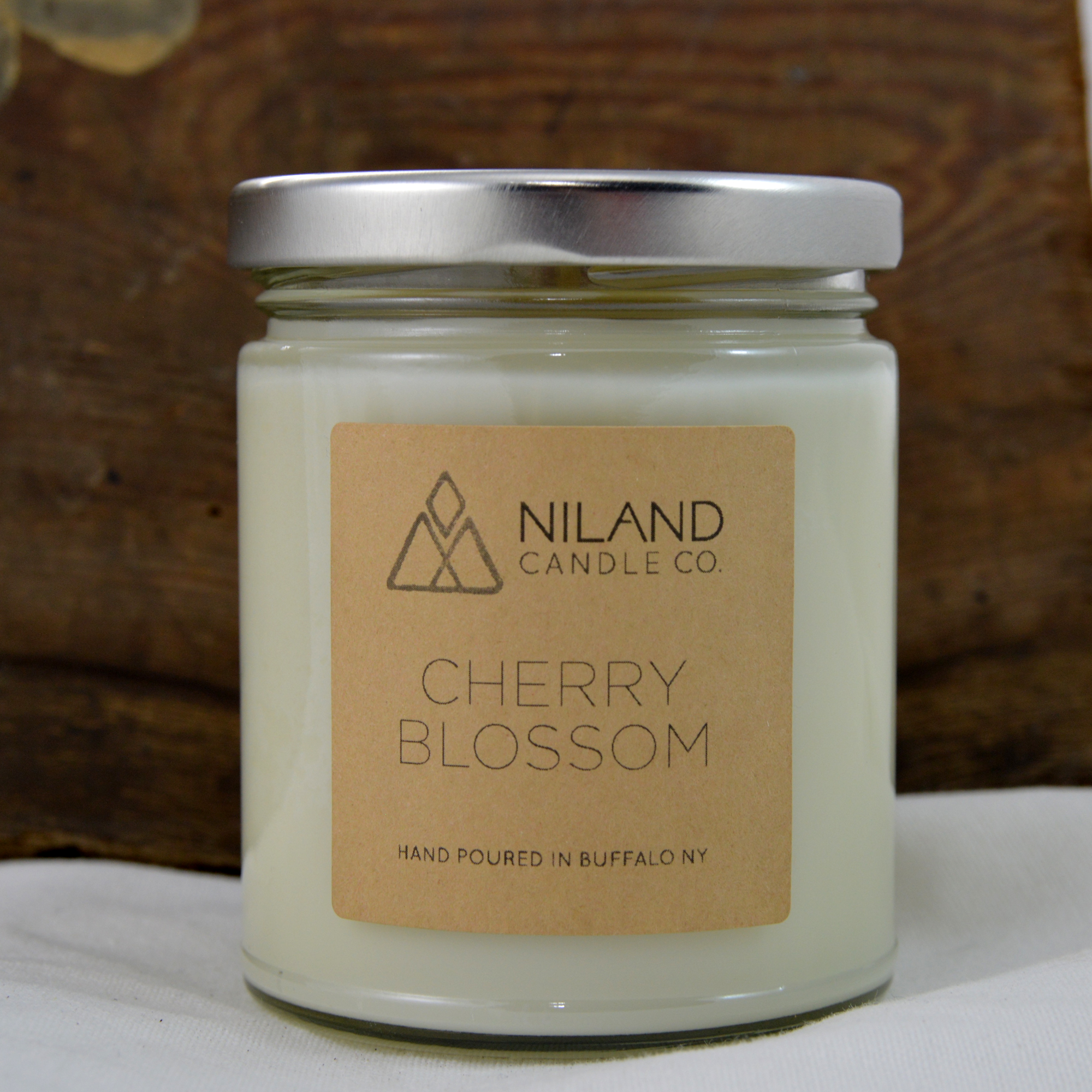 cherry blossom soy candle made in buffalo ny gift shop