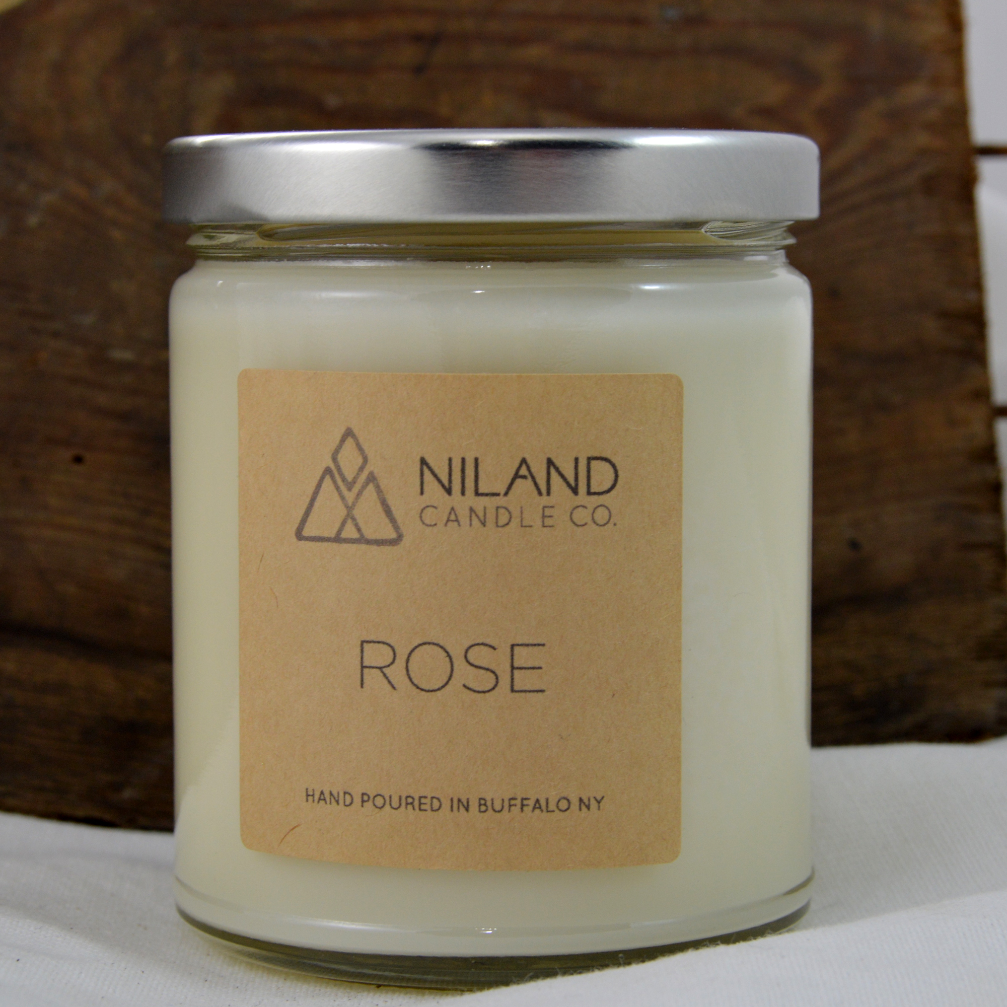 rose soy candle made in buffalo ny gift shop