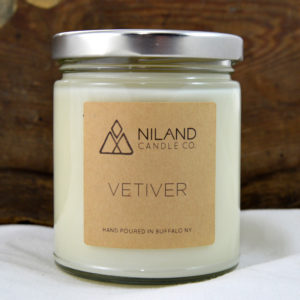 vetiver soy candle made in buffalo ny gift shop