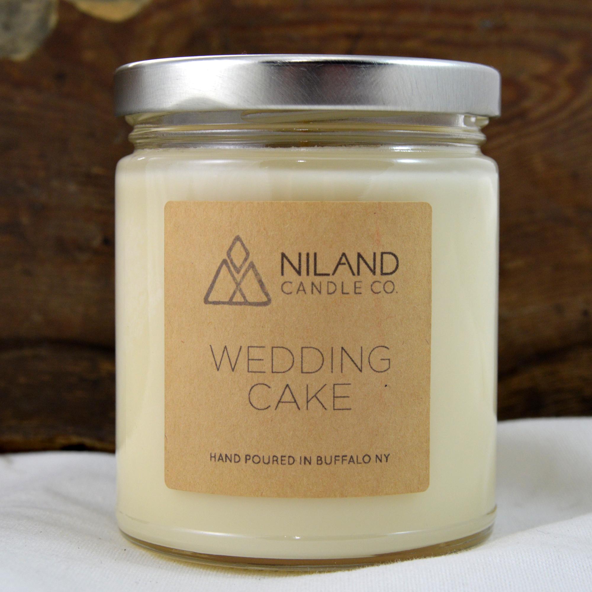 wedding cake soy candle made in buffalo ny gift shop