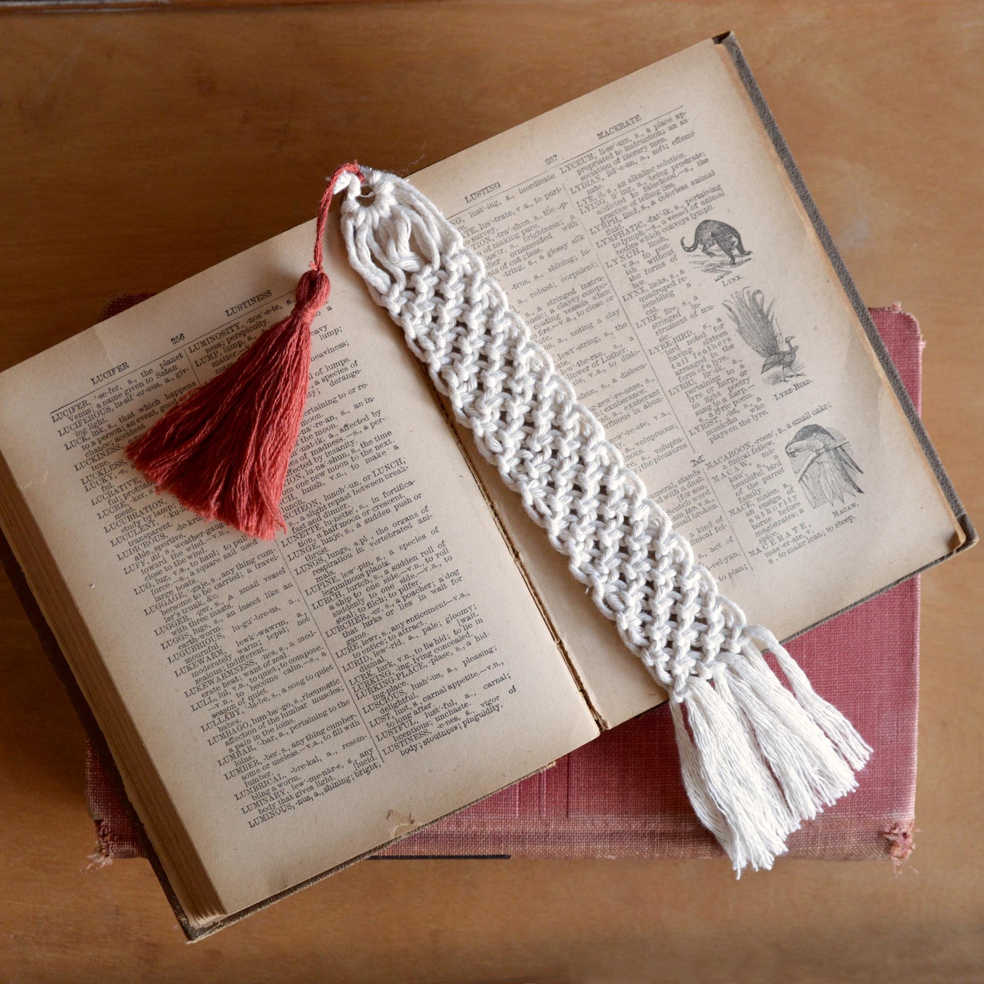 macrame bookmark made in buffalo ny