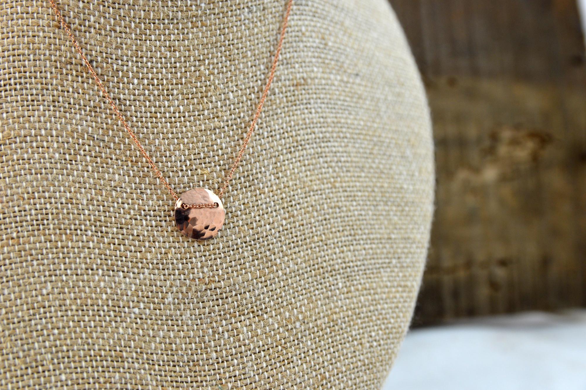 rose gold neckalce made in buffalo ny gift shop