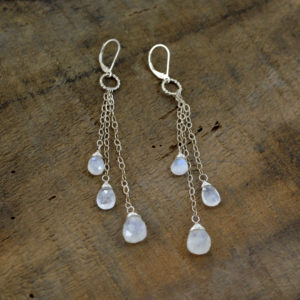 moonstone sterling silver earrings made in buffaloy ny gift shop