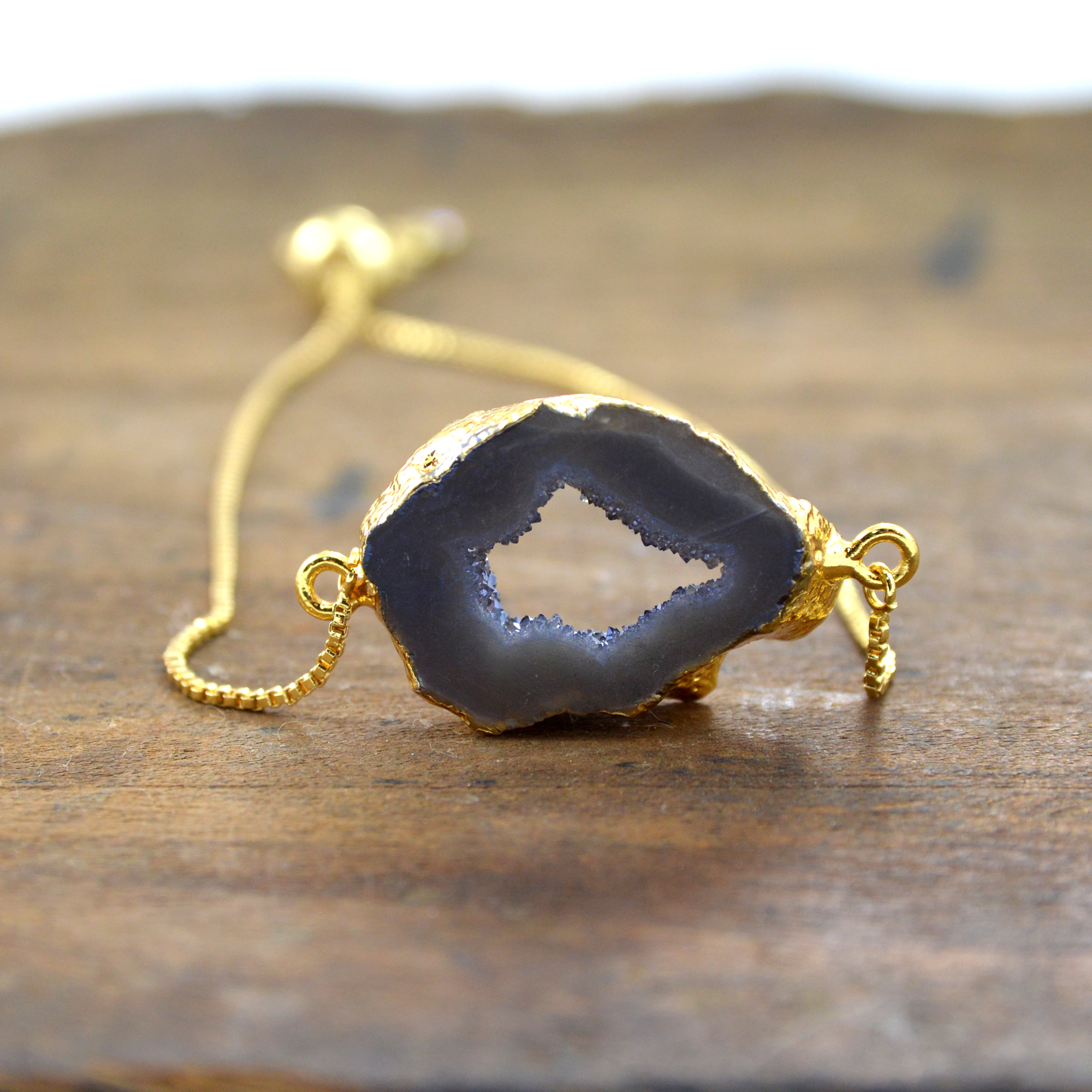adjustable druzy bracelet made in buffalo ny gift shop