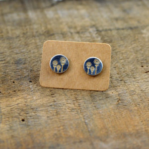 flower stud earrings made in buffalo ny gift shop