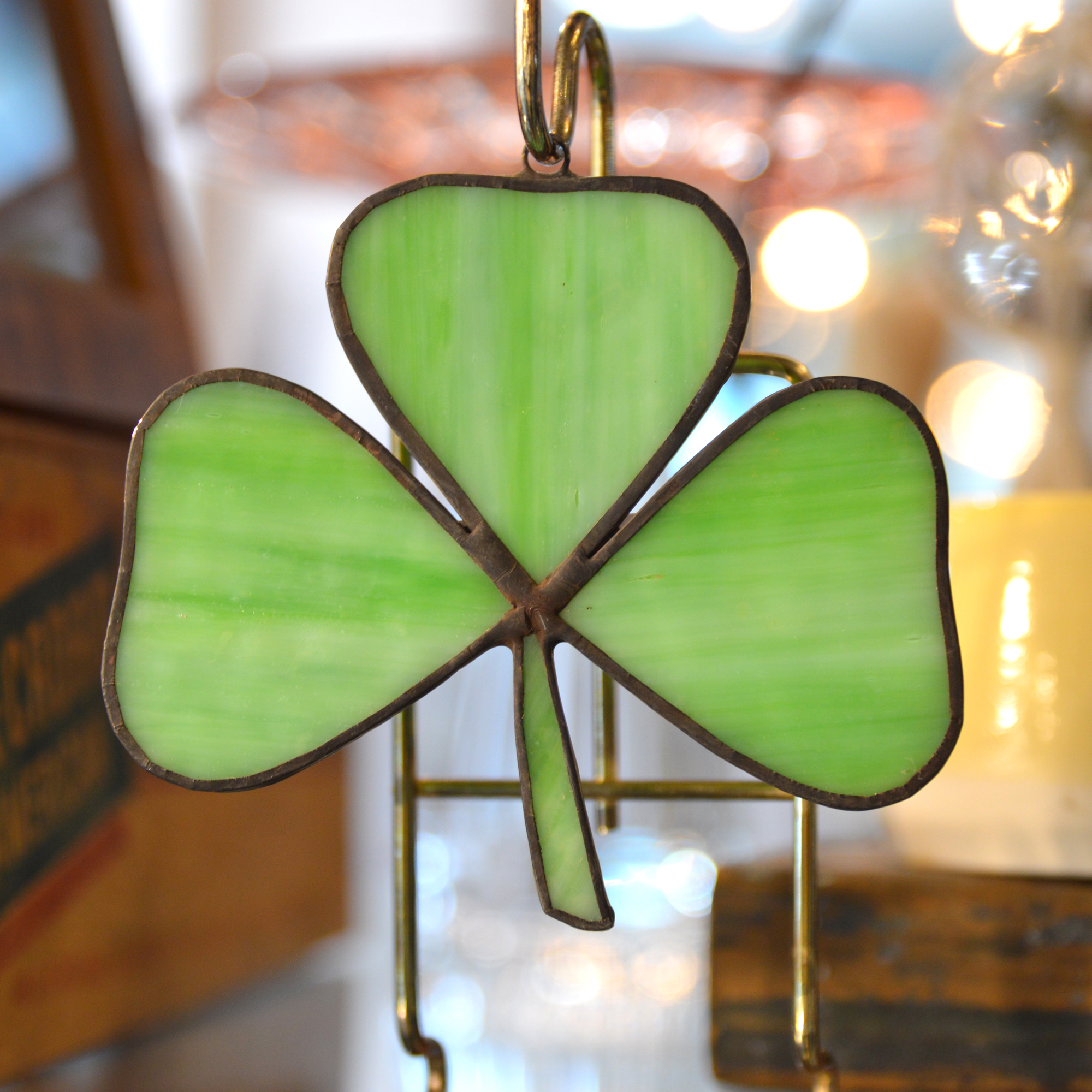 shamrock stained glass made in buffalo ny gift shop