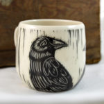 raven mug handmade in buffalo ny gift shop