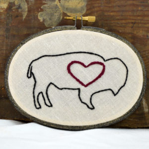 buffalo heart embroidery made in buffalo ny gift shop