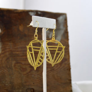 brass earrings made in buffalo ny gift shop