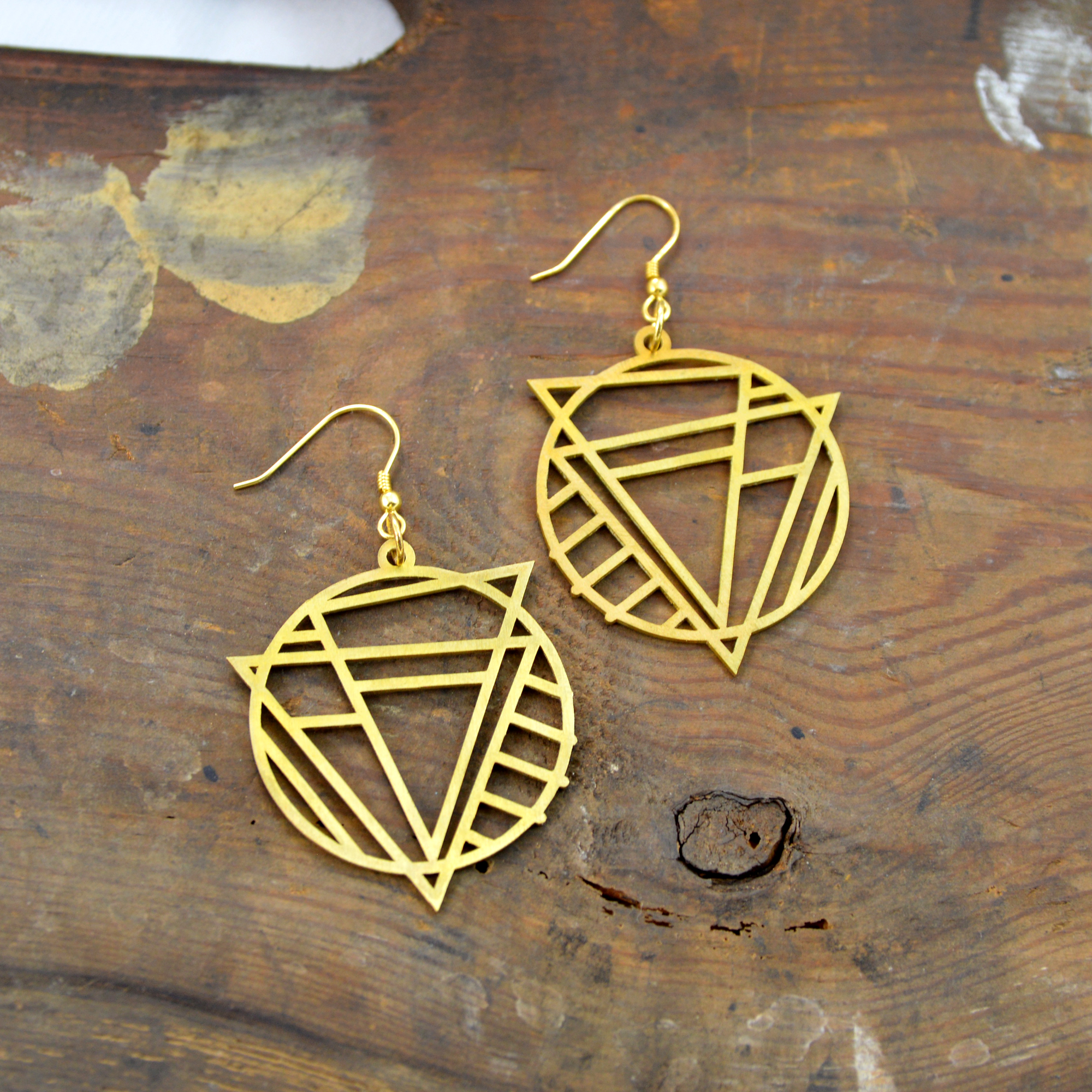 brass earrings made in buffalo ny gift shop