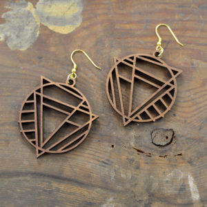 wood earrings made in buffalo ny gift shop