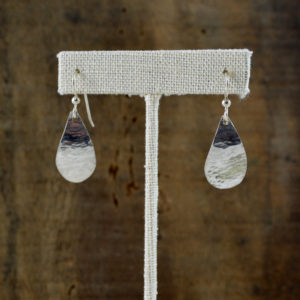 argentium teardrop earrings made in buffalo ny gift shop