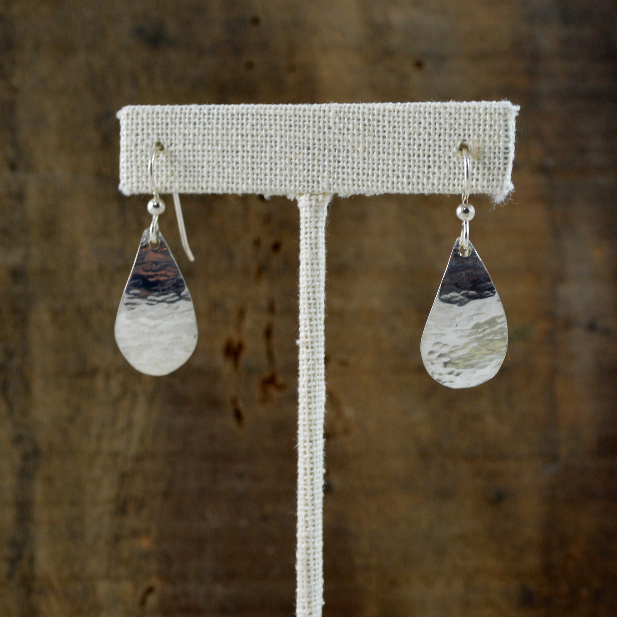 argentium teardrop earrings made in buffalo ny gift shop