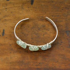 sea glass sterling silver bracelet made in buffalo ny gift shop