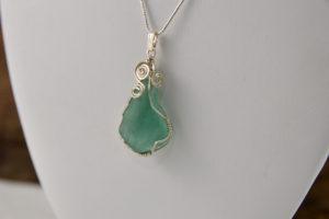 sea glass necklace handmade in buffalo ny gift shop