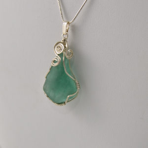 sea glass necklace handmade in buffalo ny gift shop
