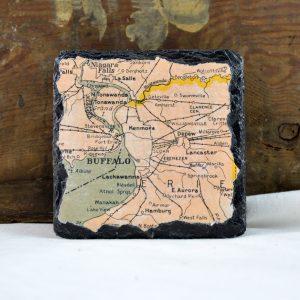 buffalo map coasters made in buffalo ny gift shop
