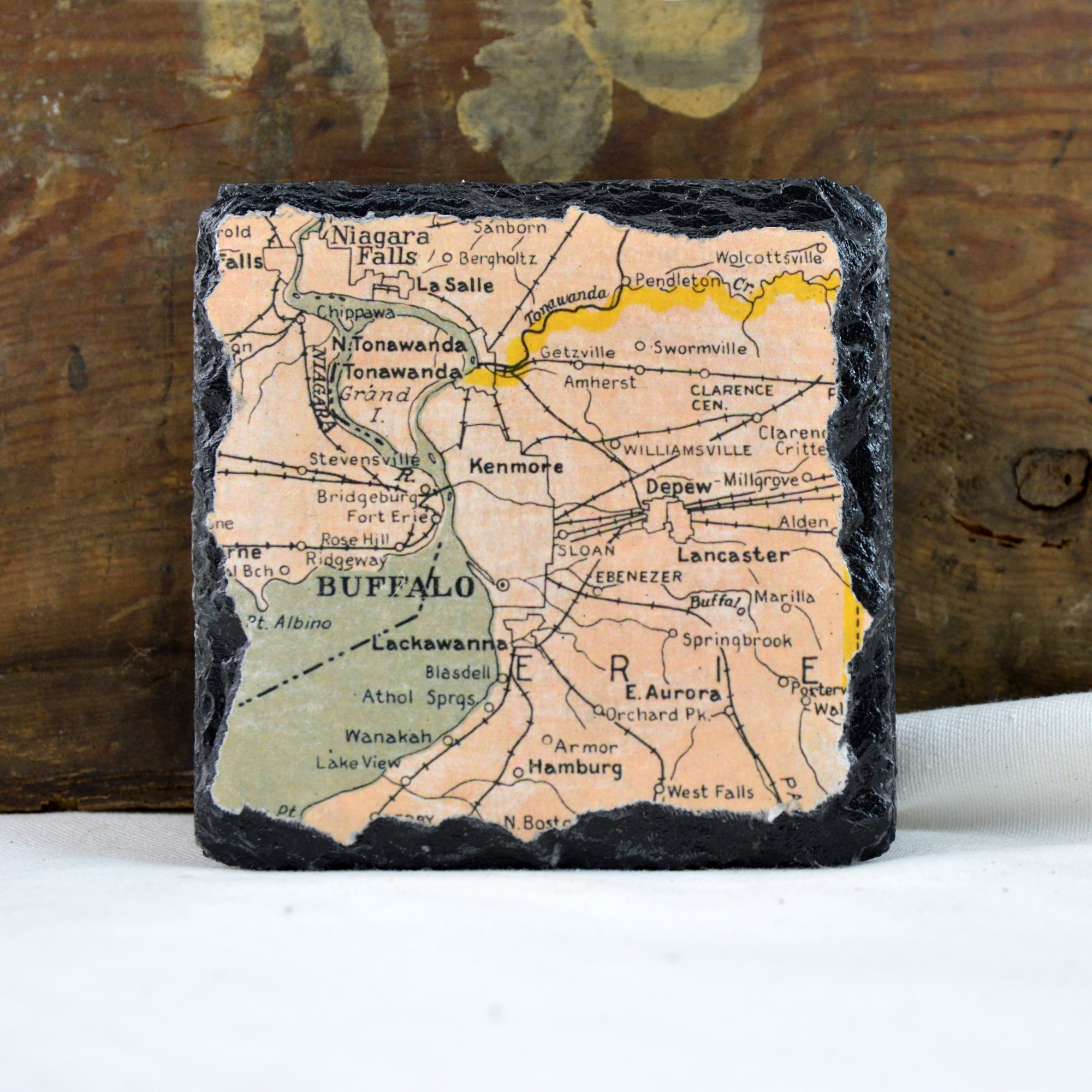 buffalo map coasters made in buffalo ny gift shop