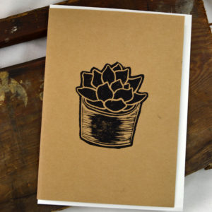 succulent greeting card made in buffalo ny gift shop