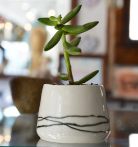 hand thrown planter made in buffalo ny gift shop