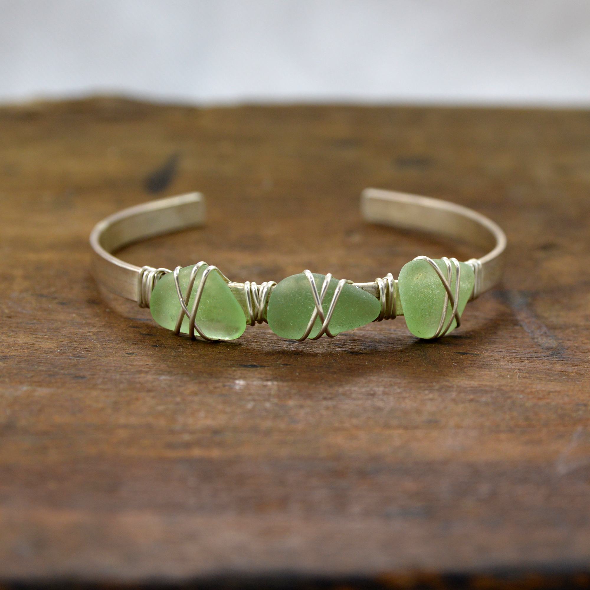 sea glass bracelet made in buffalo ny gift shop