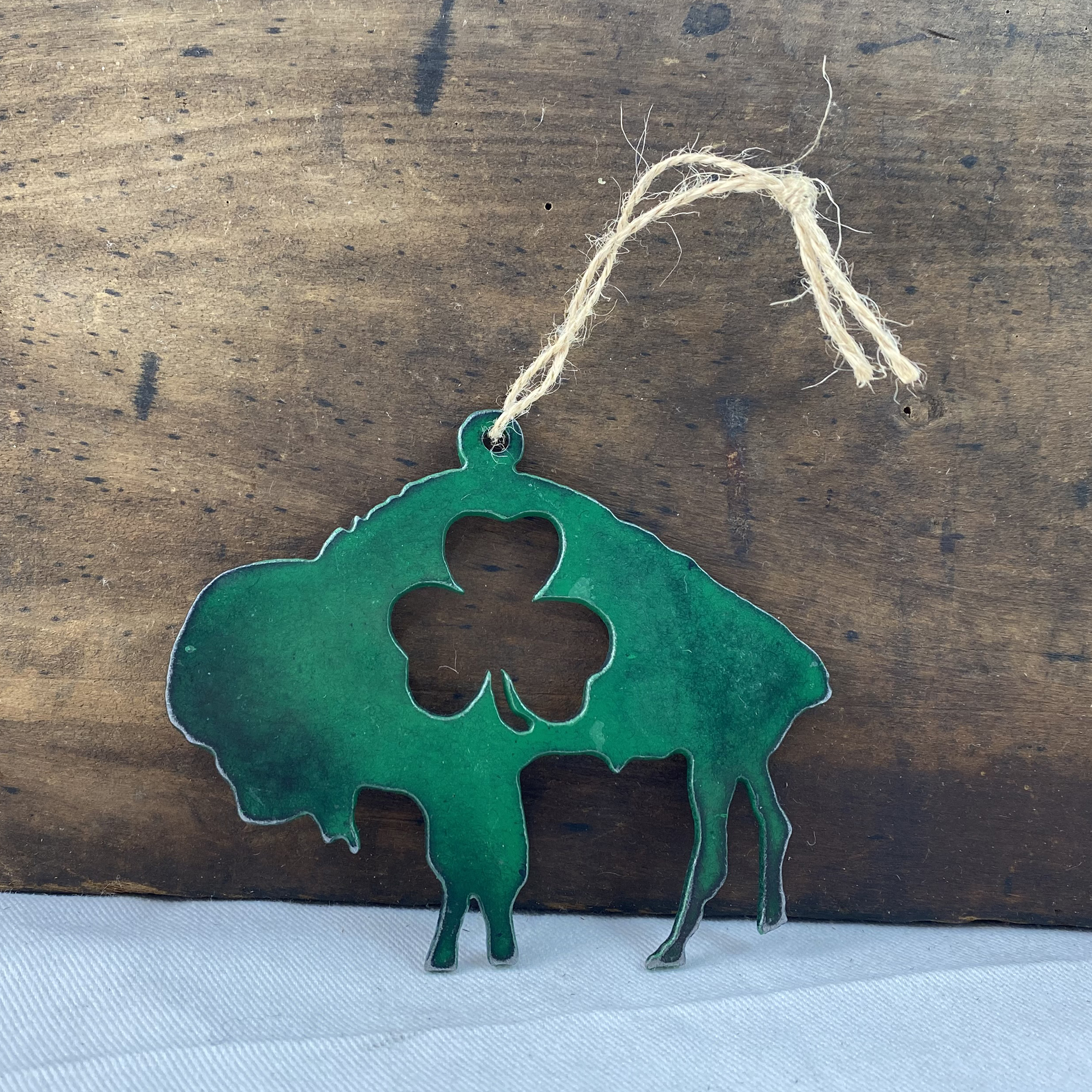 shamrock buffalo ornament made in buffalo ny gift shop
