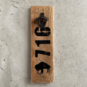 upcycled wall mount bottle opener made in buffalo ny gift shopa