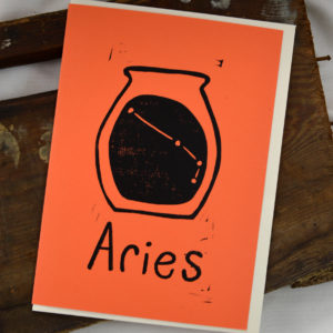 aries zodiac greeting card made in buffalo ny gift shop