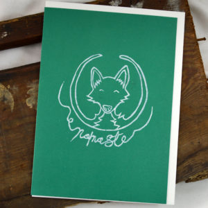 fox greeting card made in buffalo ny gift shop