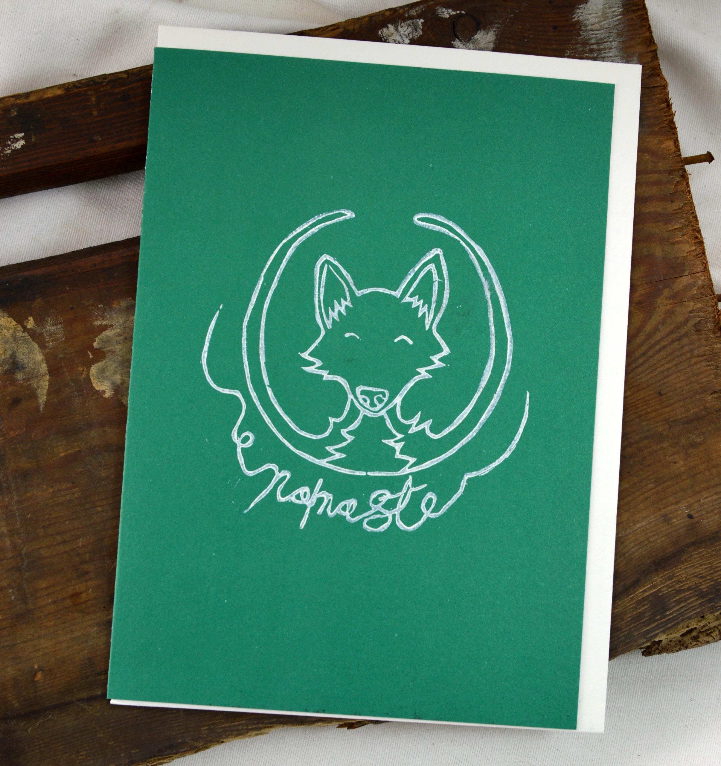 fox greeting card made in buffalo ny gift shop